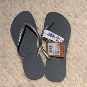 Havaianas Metallic Flip-Flops **BRAND NEW**